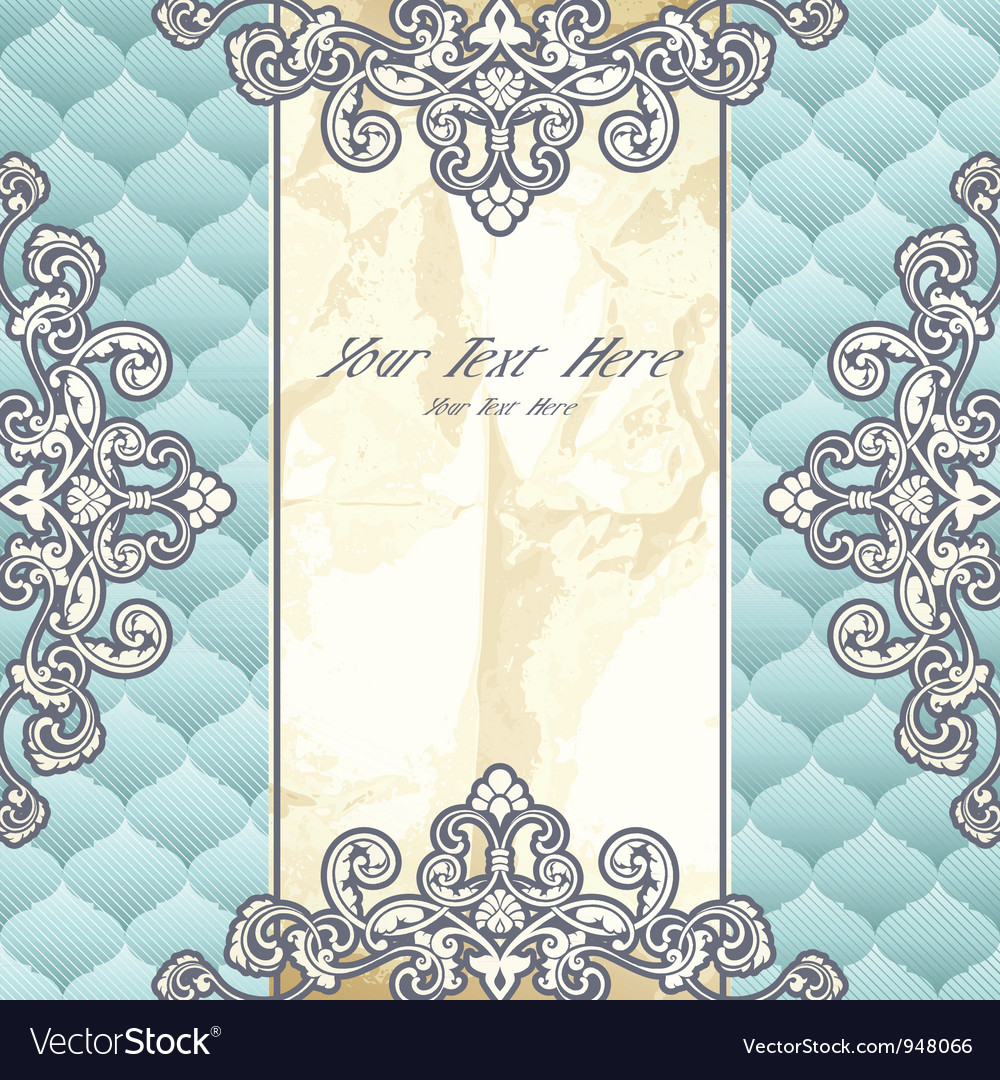 Pale blue vintage banner vector | Price: 1 Credit (USD $1)