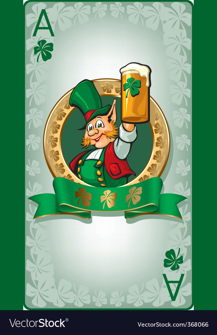 St patrick's playing card vector | Price: 3 Credit (USD $3)