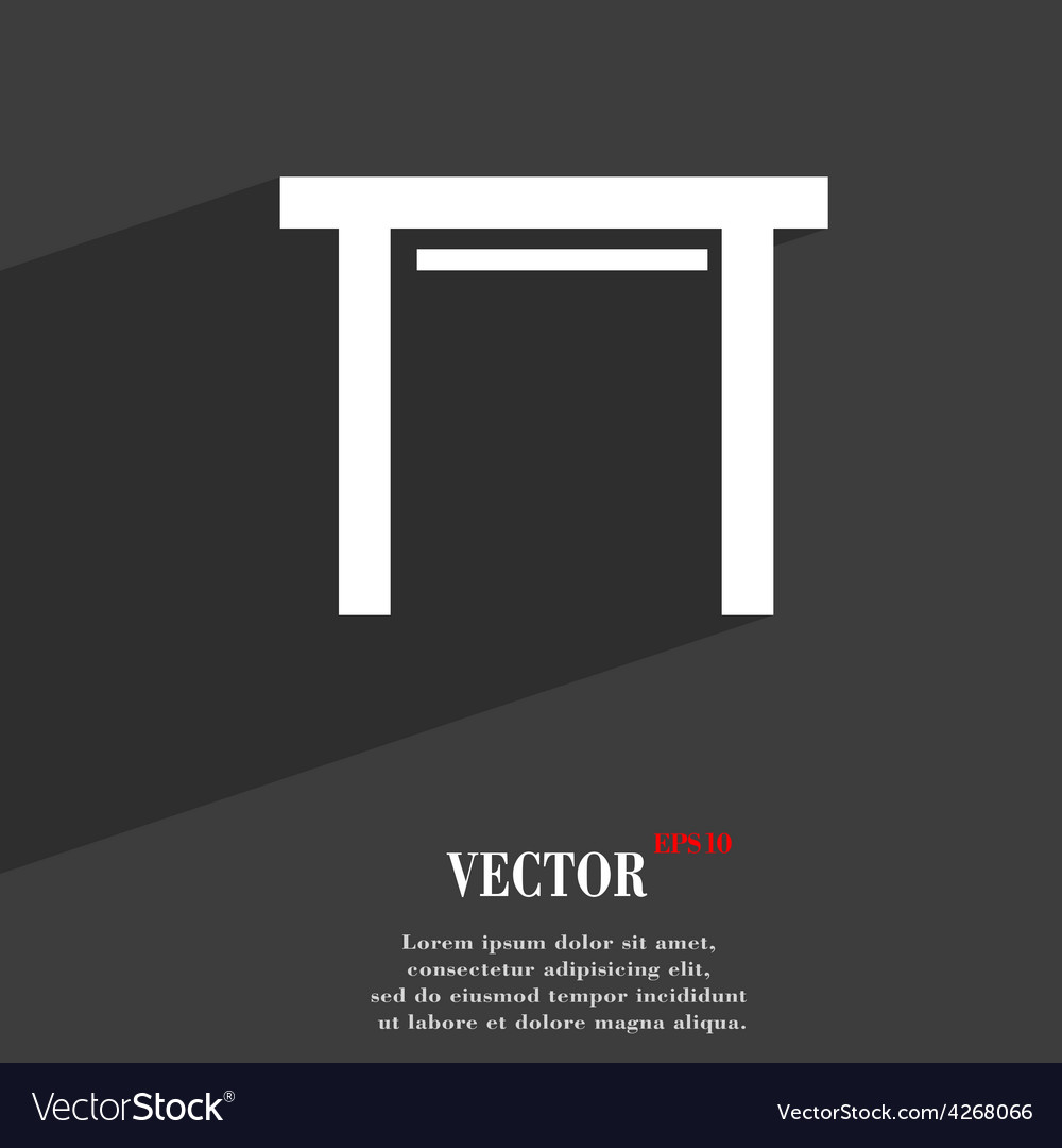 Stool seat icon symbol flat modern web design with vector | Price: 1 Credit (USD $1)