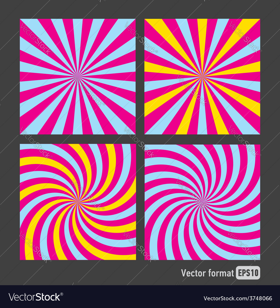 Stripes red blue square abstract vector | Price: 1 Credit (USD $1)