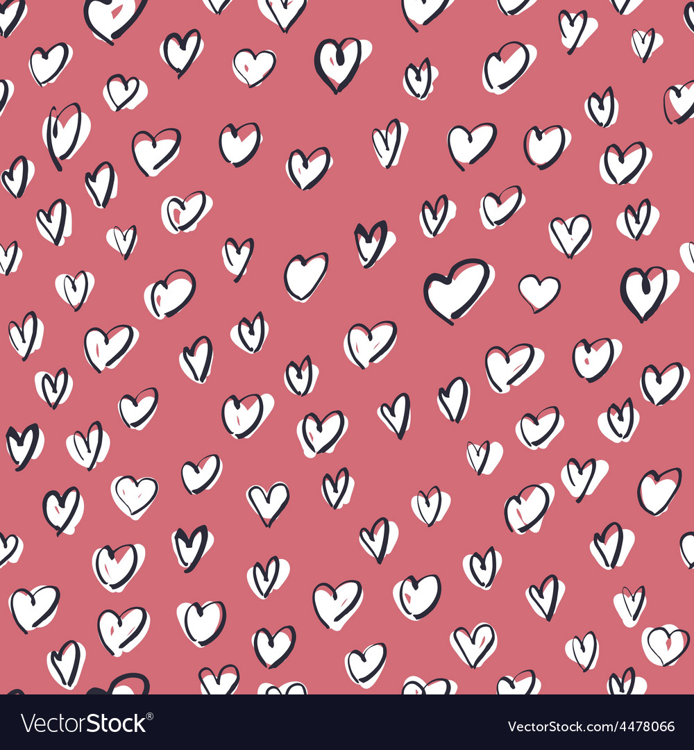 White hearts on pink vector | Price: 1 Credit (USD $1)