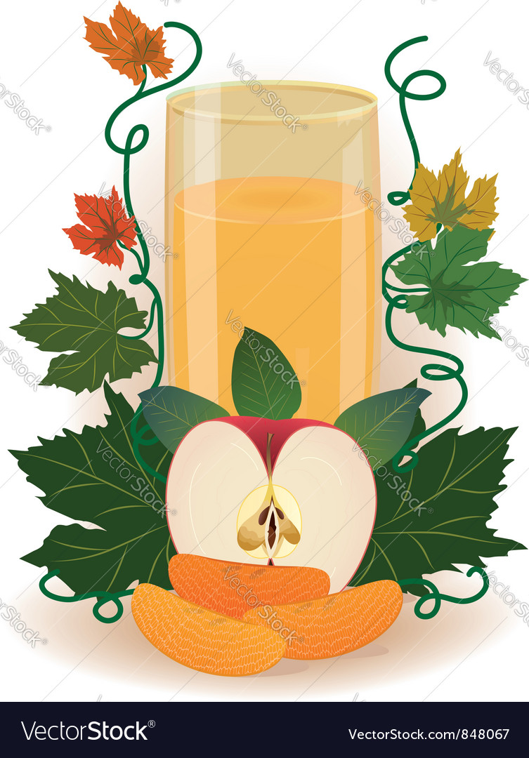 Apple juice vector | Price: 3 Credit (USD $3)