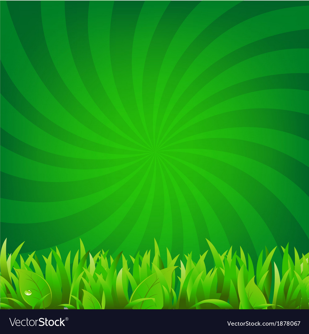 Beams and green grass vector | Price: 1 Credit (USD $1)