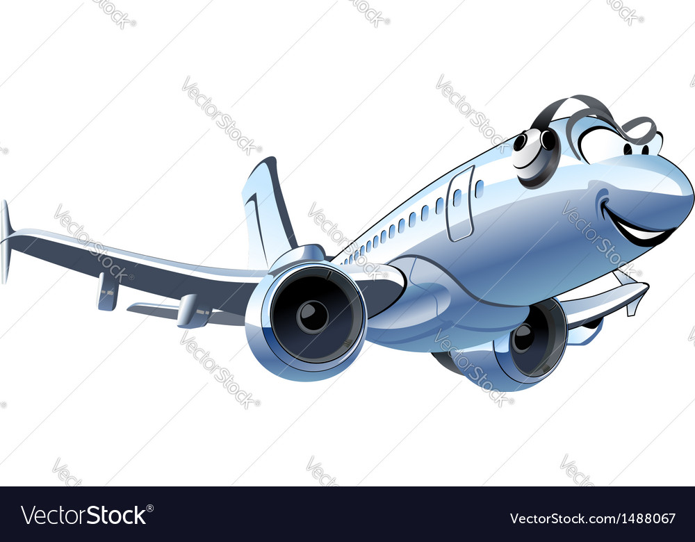 Cartoon airliner vector | Price: 1 Credit (USD $1)