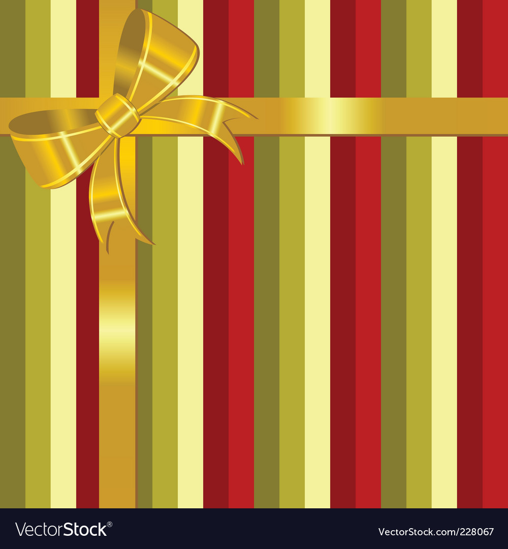 Christmas background with bow vector | Price: 1 Credit (USD $1)