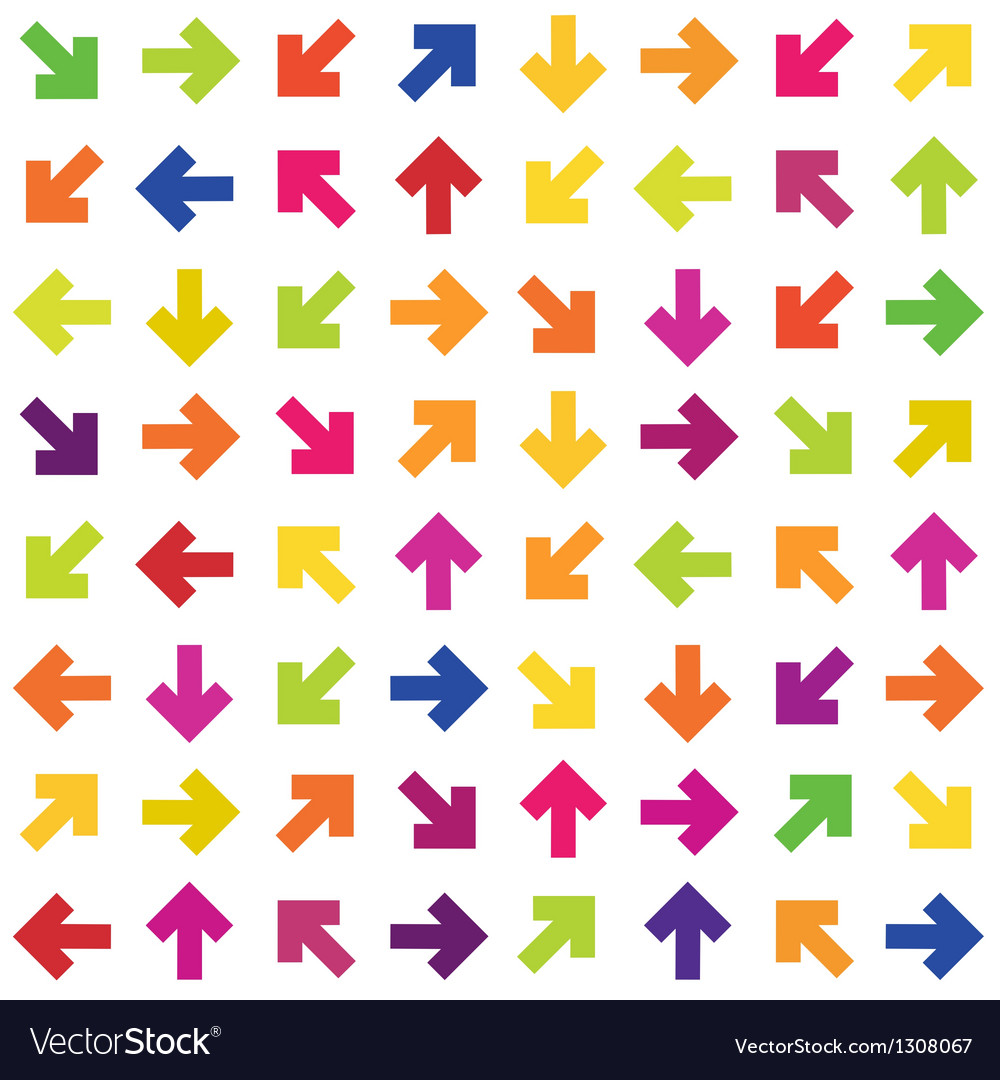 Colorful arrows background seamless vector | Price: 1 Credit (USD $1)