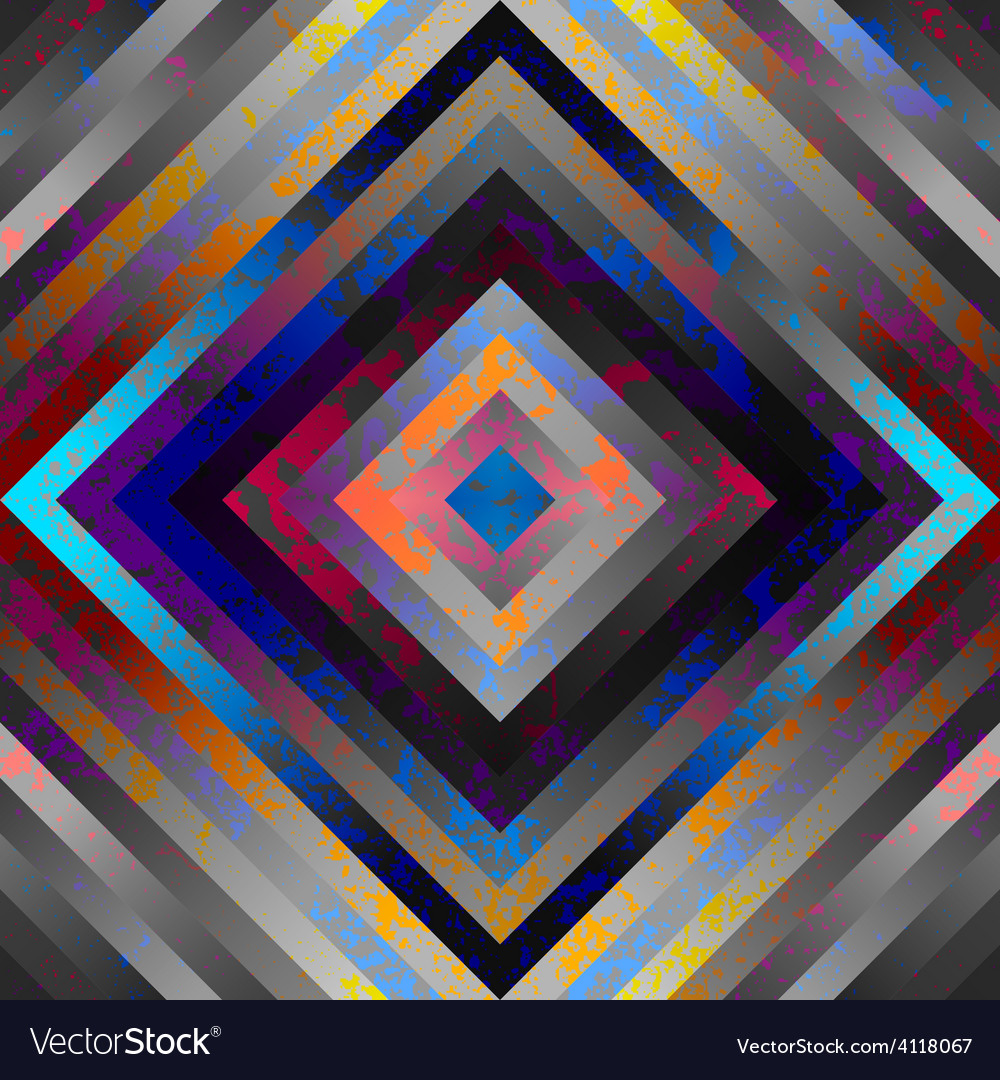 Geometric pattern with grunge effect vector   Price: 1 Credit (USD $1)