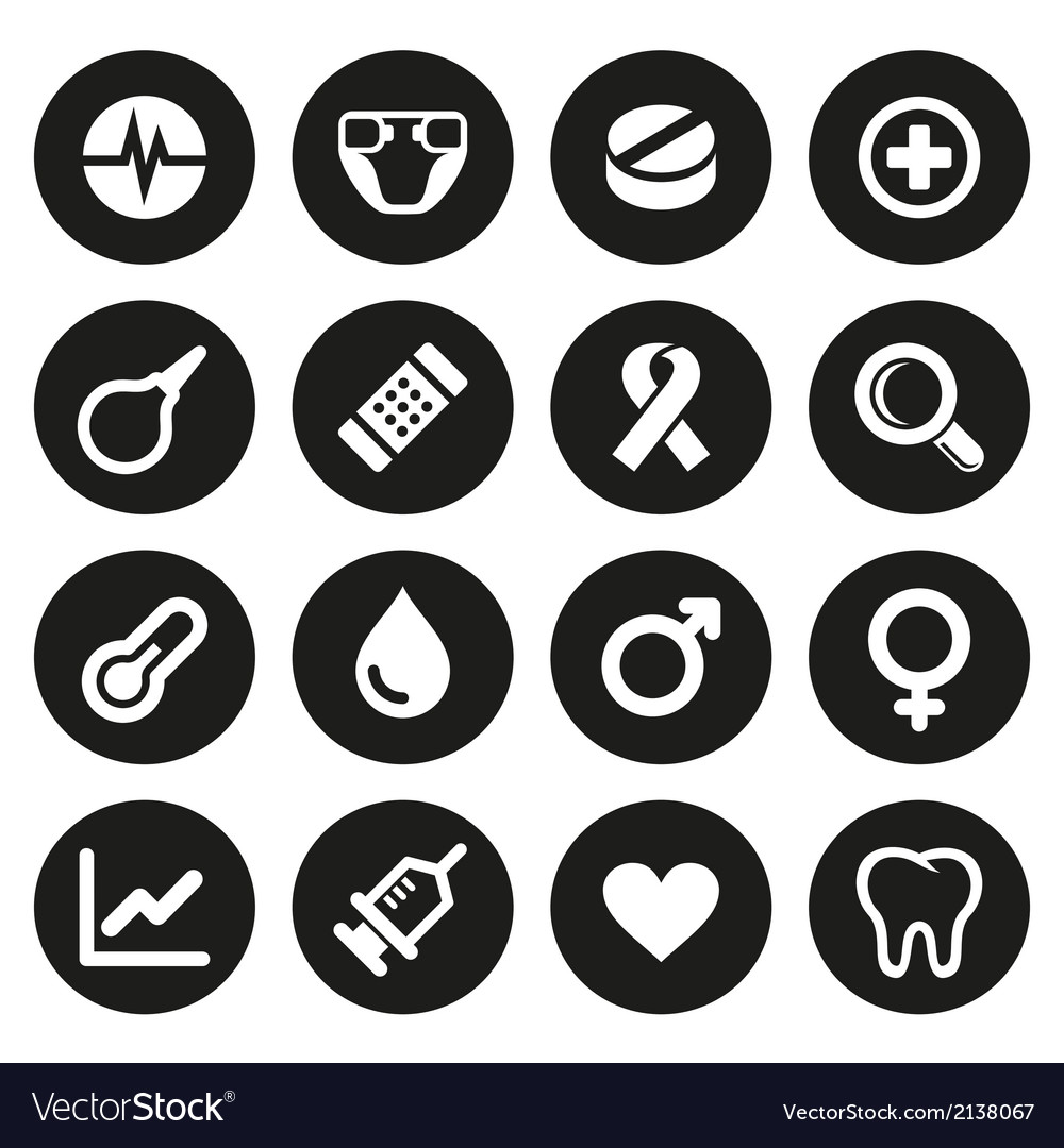 Medical icons set 2 vector | Price: 1 Credit (USD $1)
