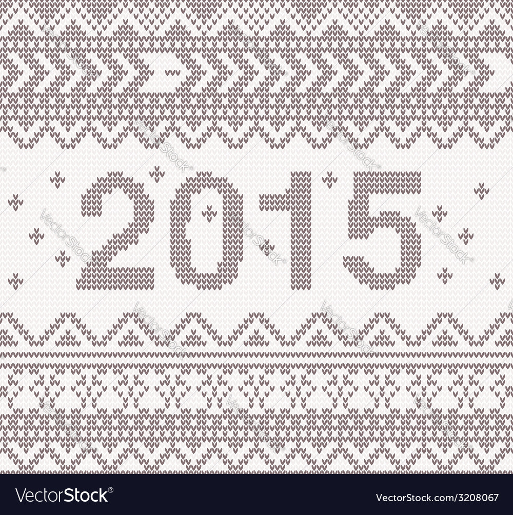 New year beige knitted background vector | Price: 1 Credit (USD $1)
