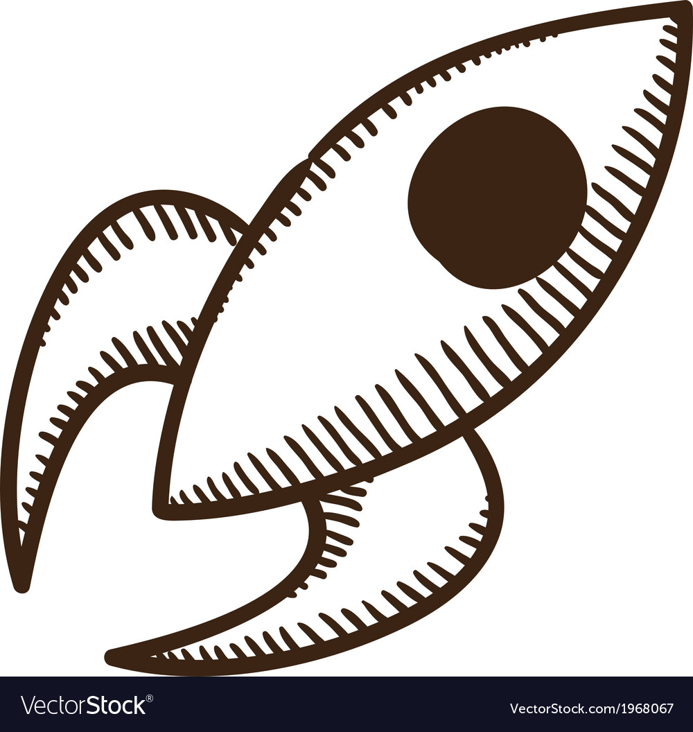 Soaring rocket ship symbol vector | Price: 1 Credit (USD $1)
