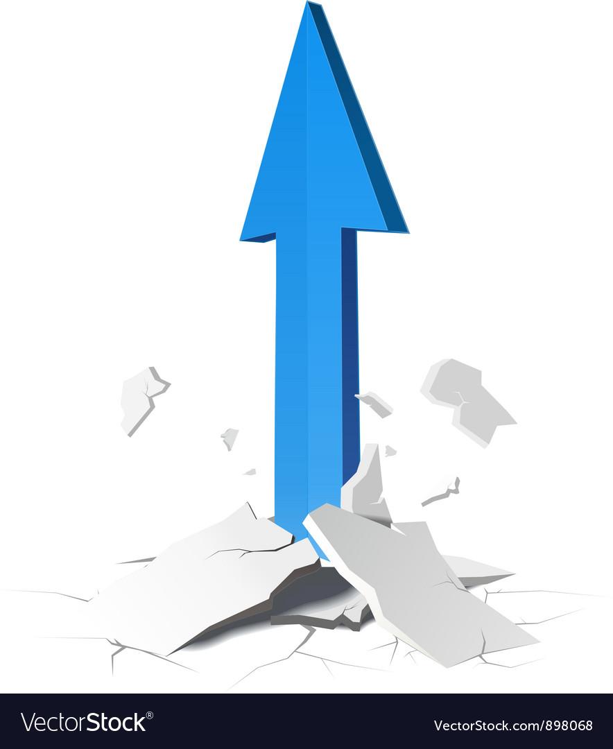 Arrow growth concept vector   Price: 1 Credit (USD $1)