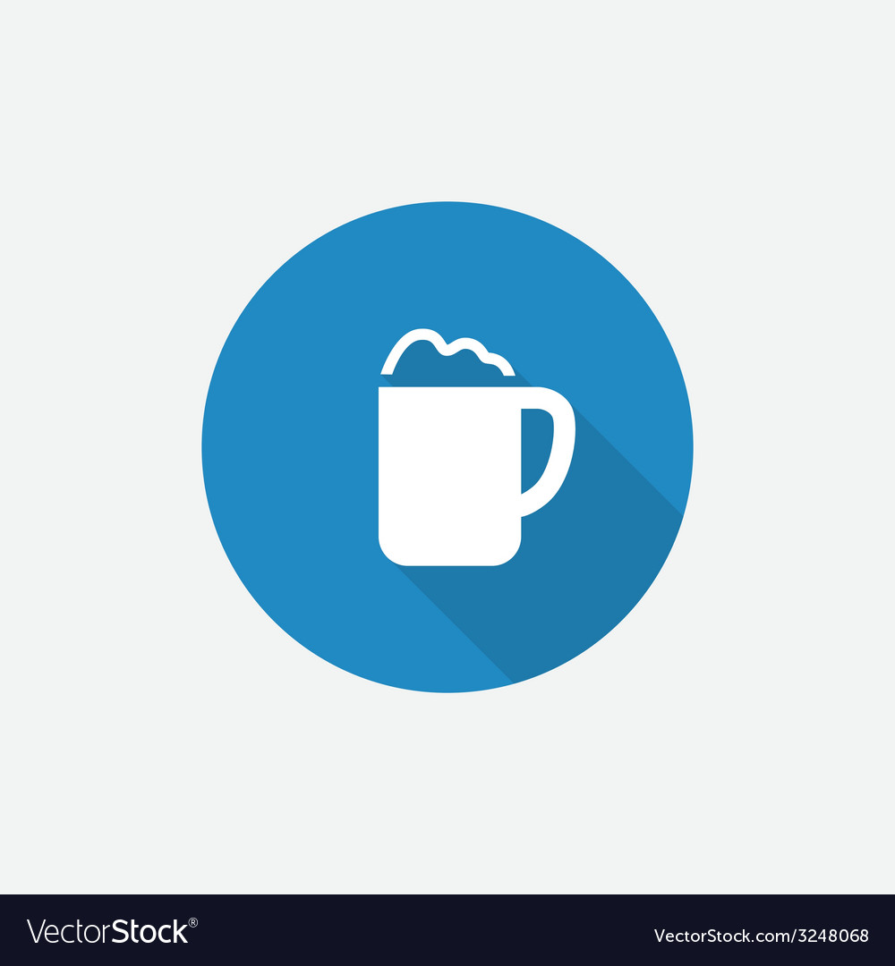 Cappuccino flat blue simple icon with long shadow vector | Price: 1 Credit (USD $1)