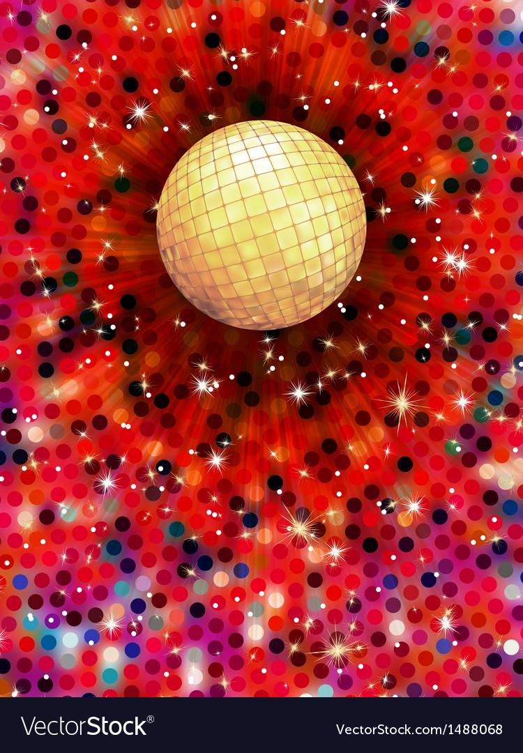 Colorful disco ball 3d  eps 10 vector | Price: 1 Credit (USD $1)