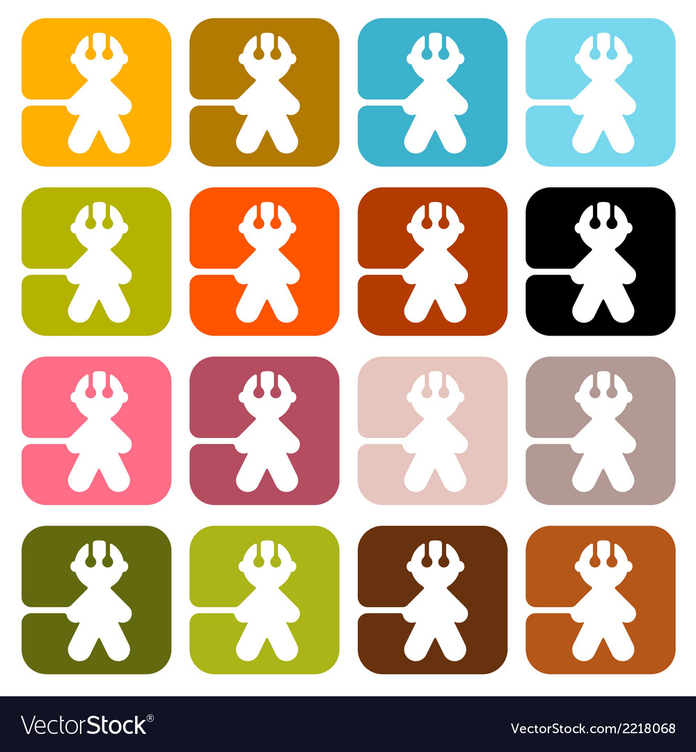 Colorful men icons - symbols set isolated on white vector   Price: 1 Credit (USD $1)