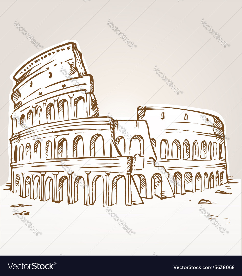 Colosseum hand draw vector | Price: 1 Credit (USD $1)