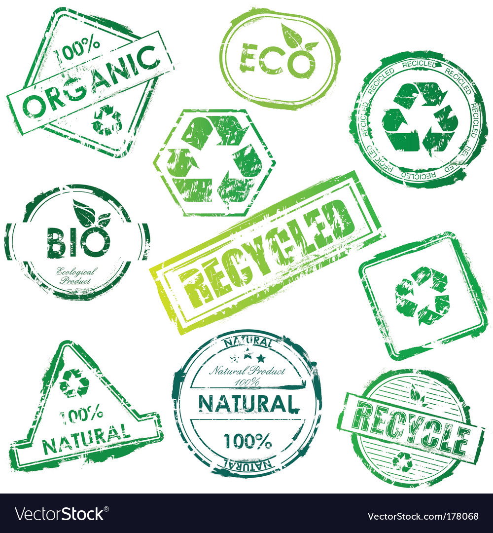 Eco stamp vector | Price: 1 Credit (USD $1)