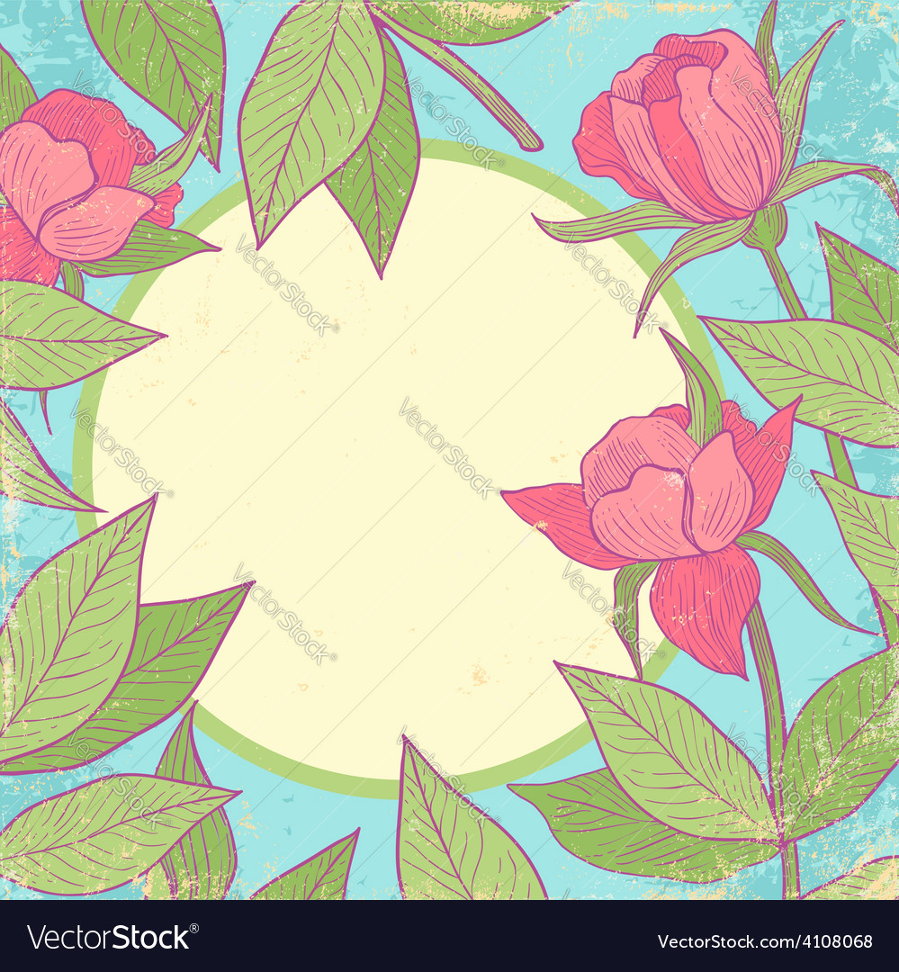 Flower vintage pink vector   Price: 1 Credit (USD $1)