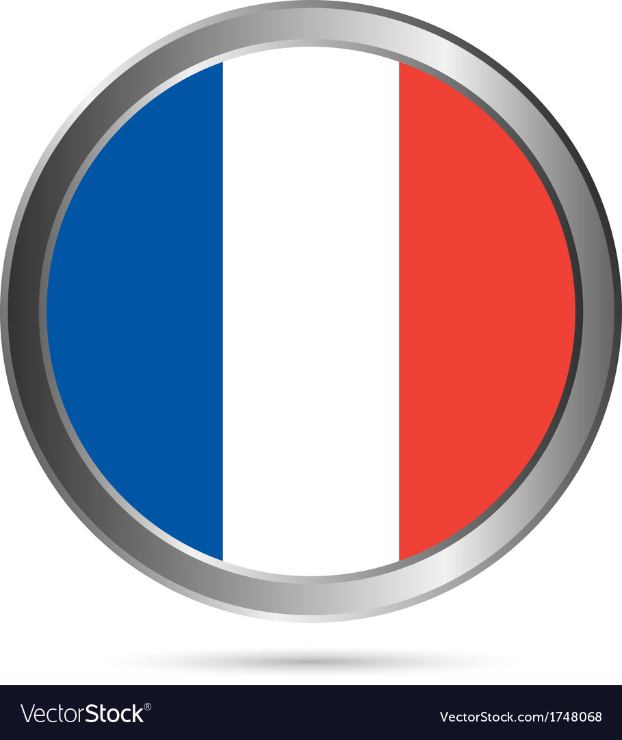 France flag button vector | Price: 1 Credit (USD $1)