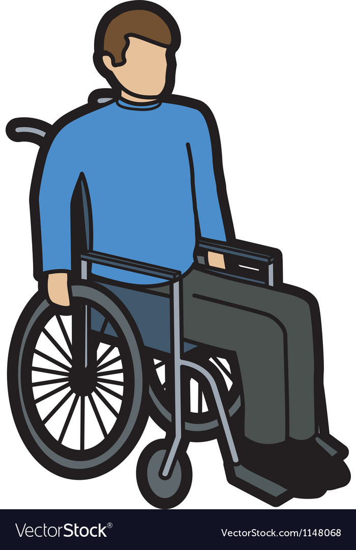 Man in wheelchair vector | Price: 1 Credit (USD $1)