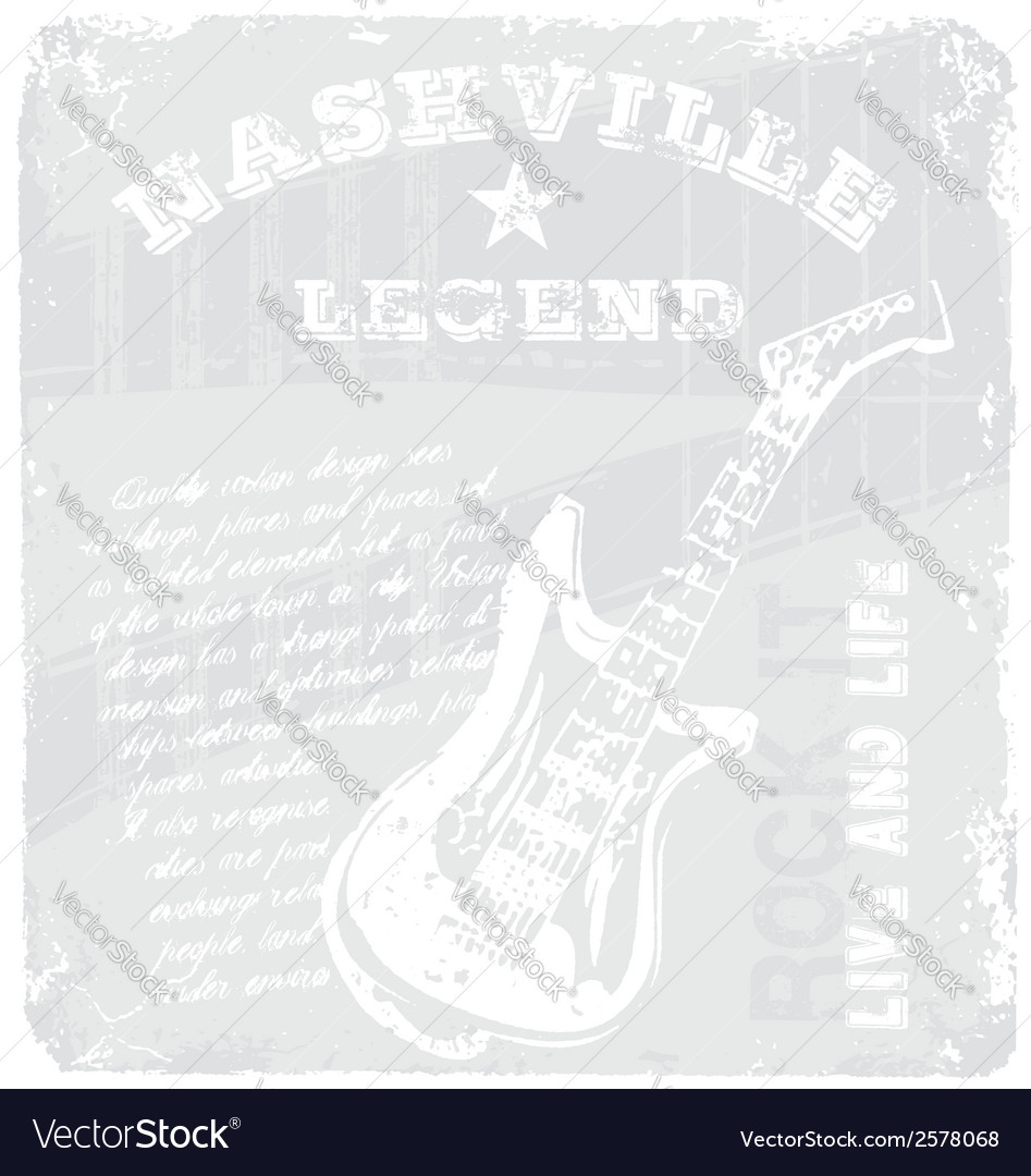Rock music legend vector | Price: 1 Credit (USD $1)