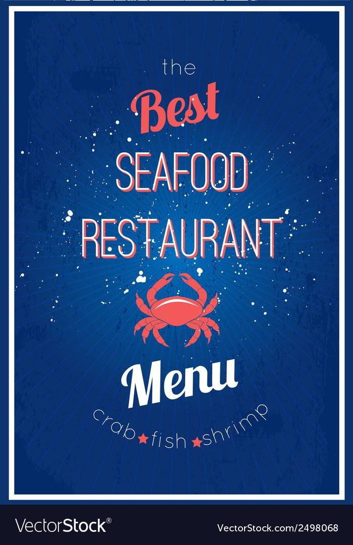 Seafood restaurant menu vector | Price: 1 Credit (USD $1)