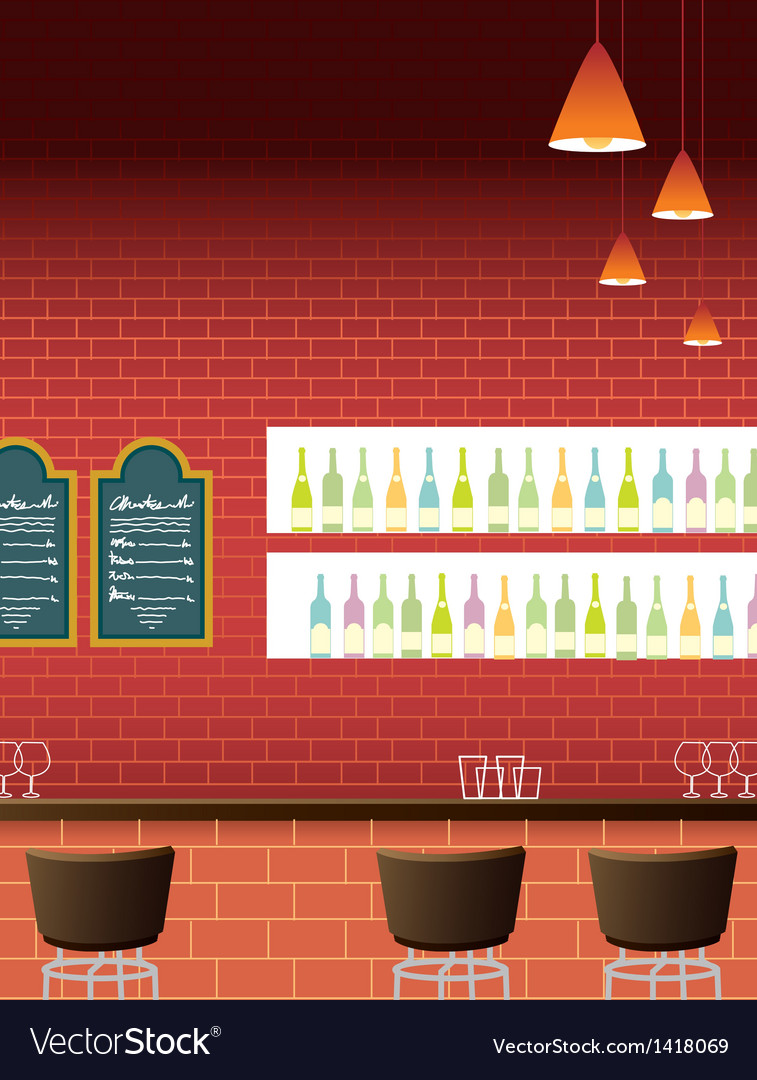 Bar interior background vector | Price: 1 Credit (USD $1)