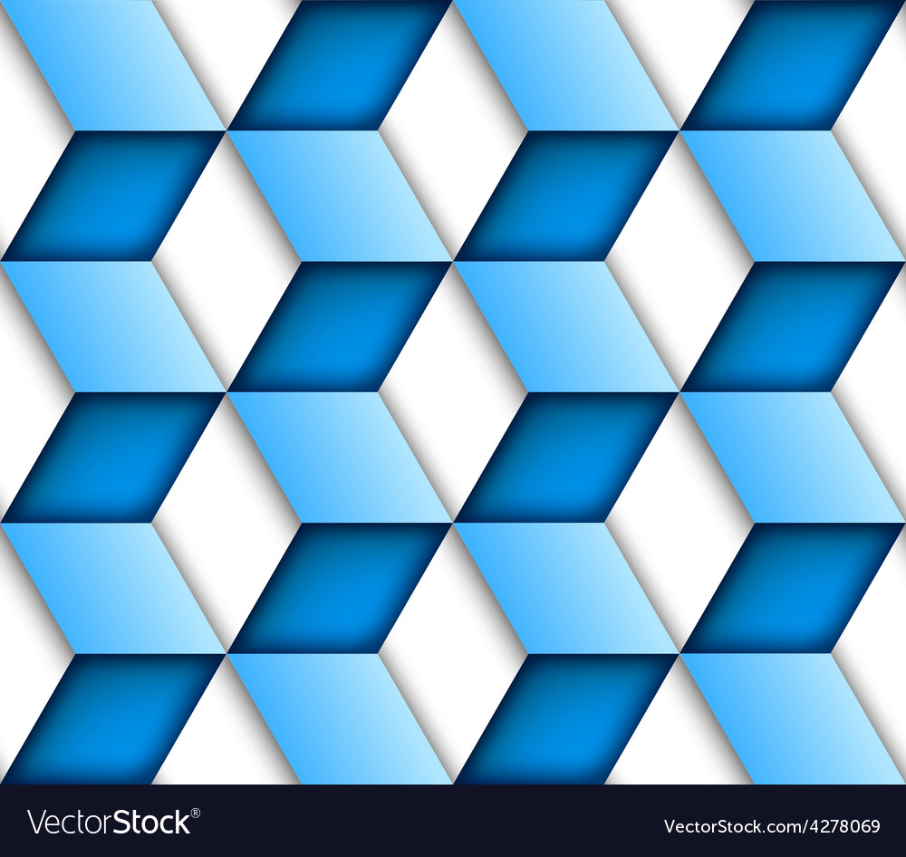 Blue tile seamless background vector