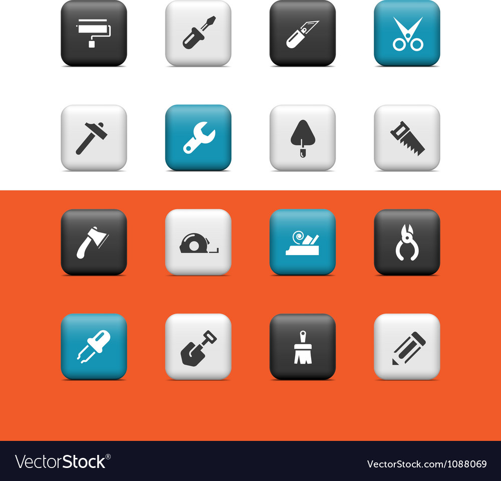 Construction tools buttons vector | Price: 1 Credit (USD $1)