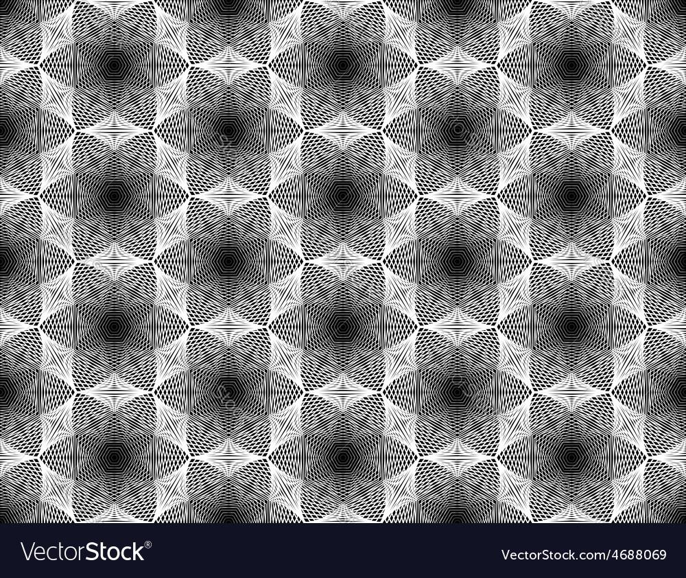 Design seamless monochrome grid geometric pattern vector | Price: 1 Credit (USD $1)