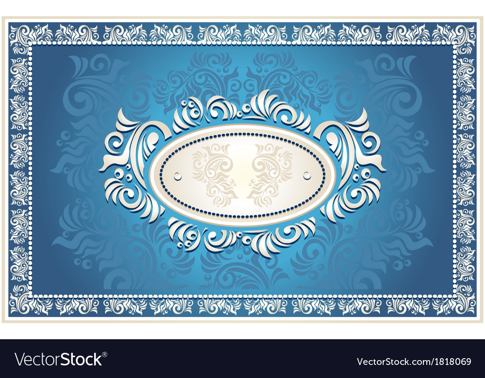 Invitation or frame with floral background vector | Price: 1 Credit (USD $1)