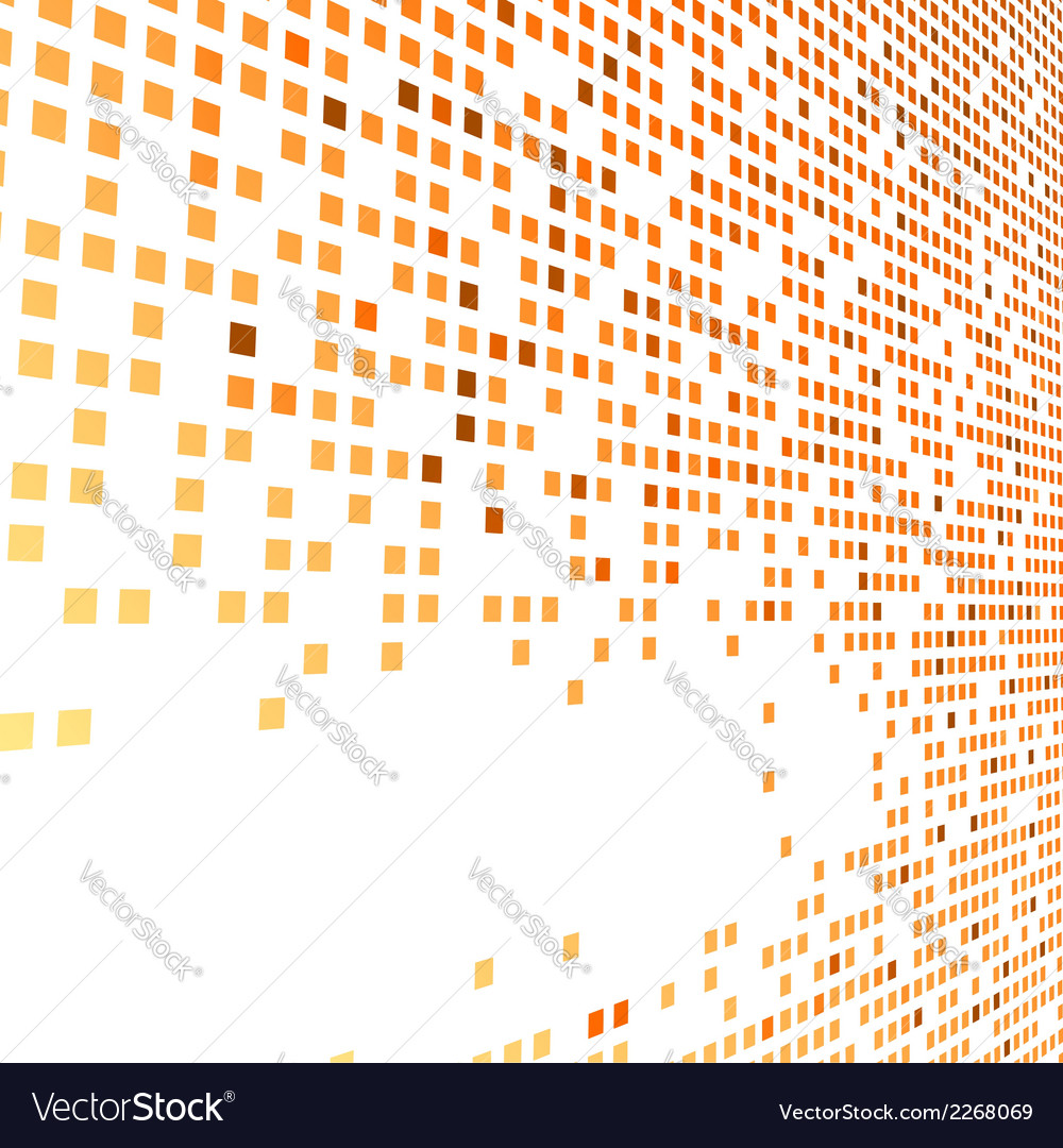 Orange bright tiles empty background vector | Price: 1 Credit (USD $1)