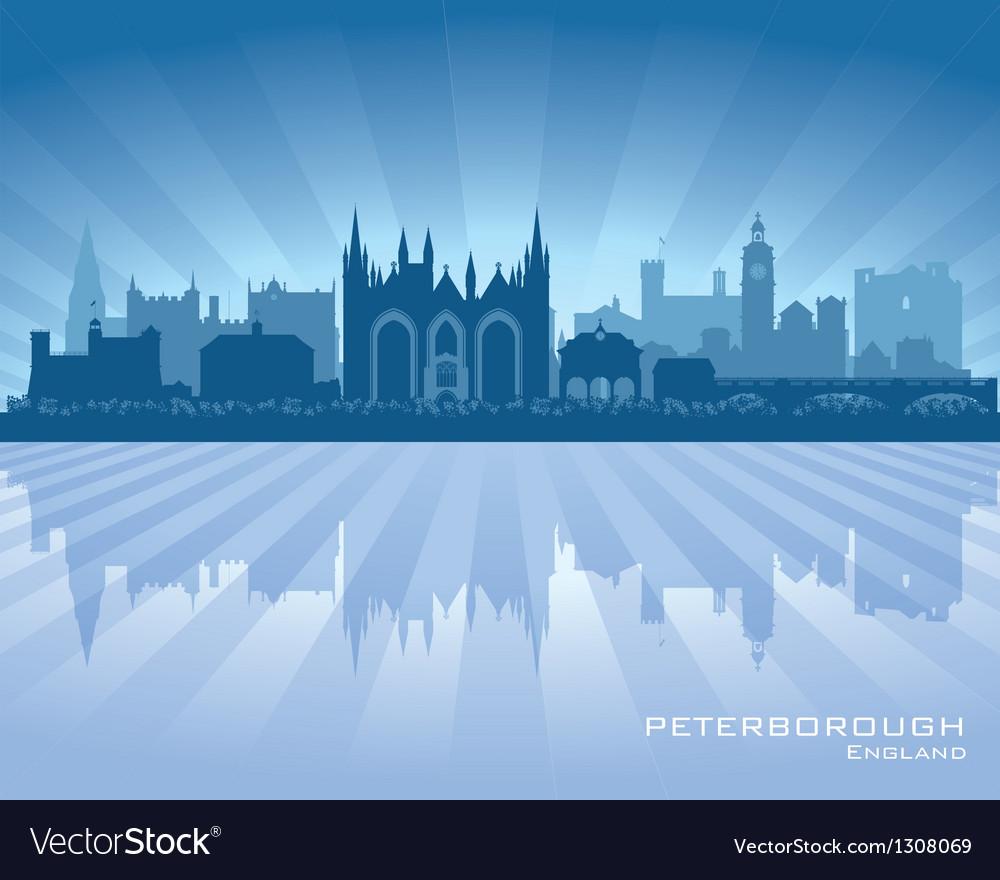 Peterborough england city skyline silhouette vector | Price: 1 Credit (USD $1)