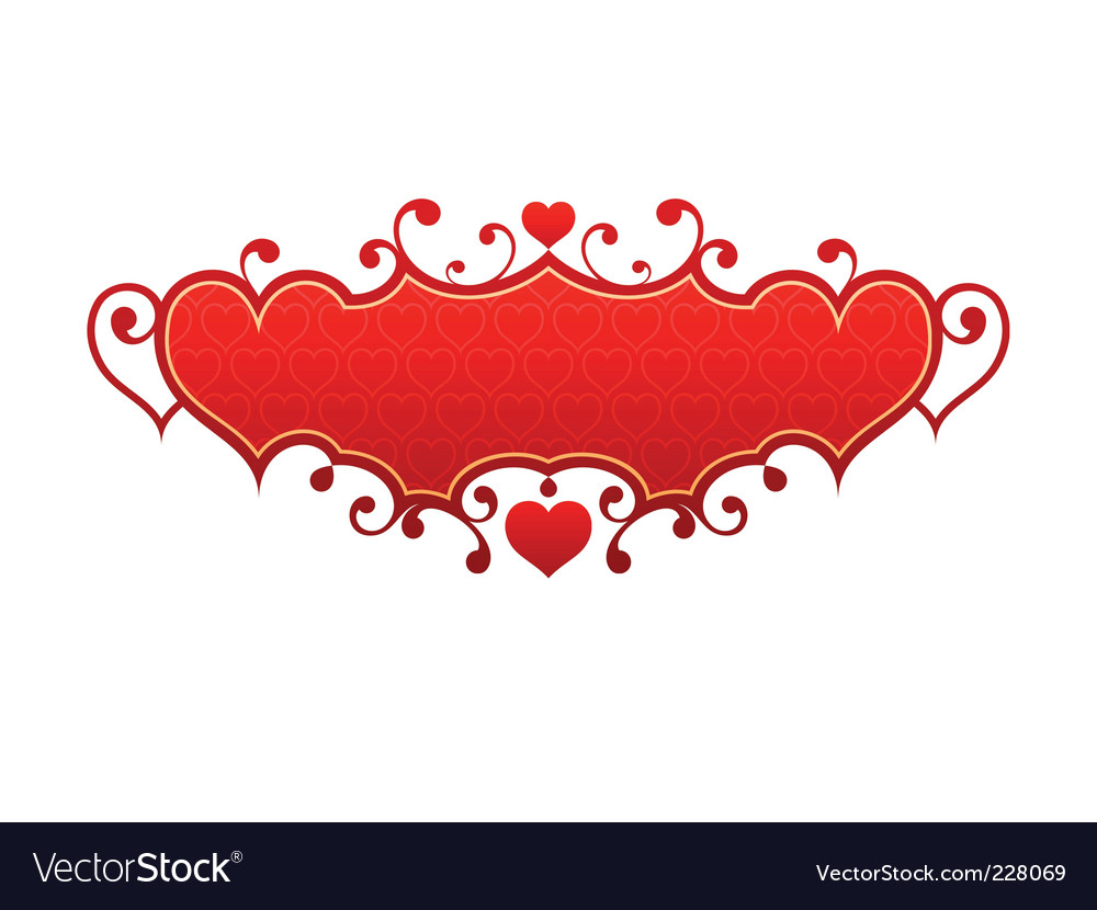 Red hearts frame vector | Price: 1 Credit (USD $1)
