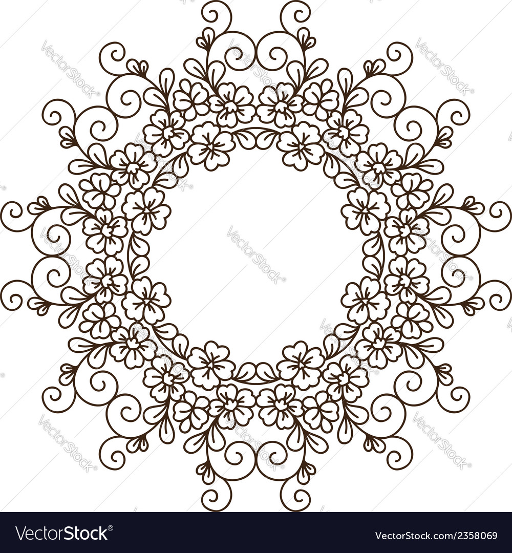 Round lace card vector | Price: 1 Credit (USD $1)