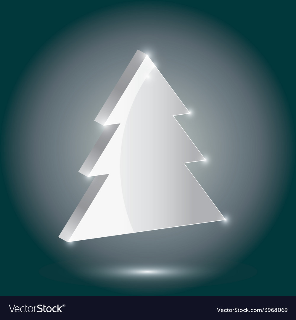 Silver fir 3 d on a gray background new year vector | Price: 1 Credit (USD $1)