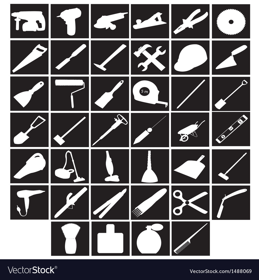 Tools builder cleaner rooms barber vector   Price: 1 Credit (USD $1)