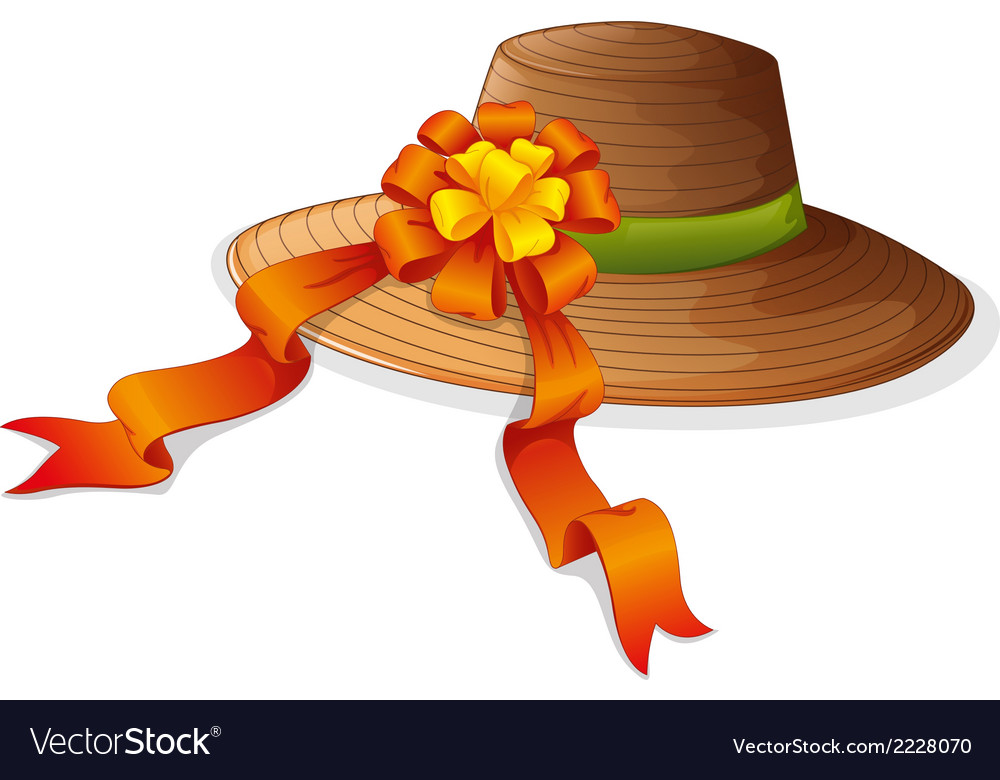 A fashion hat with a ribbon vector | Price: 1 Credit (USD $1)