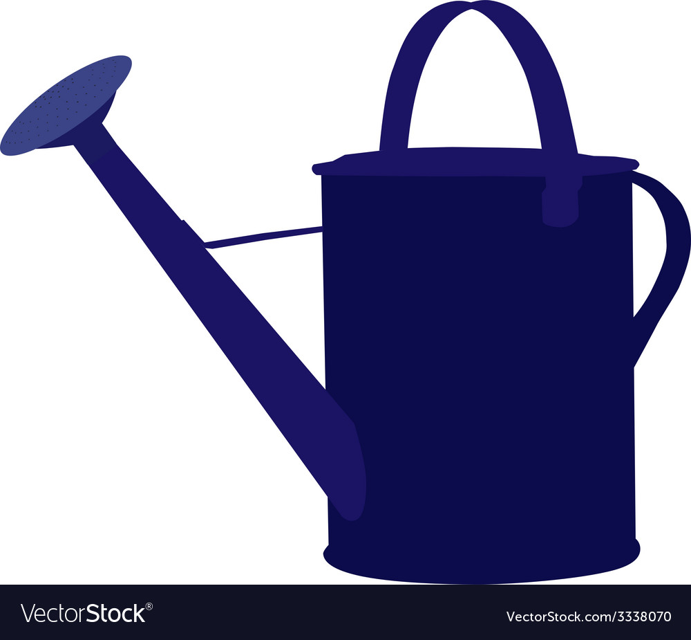 Blue watering can vector | Price: 1 Credit (USD $1)