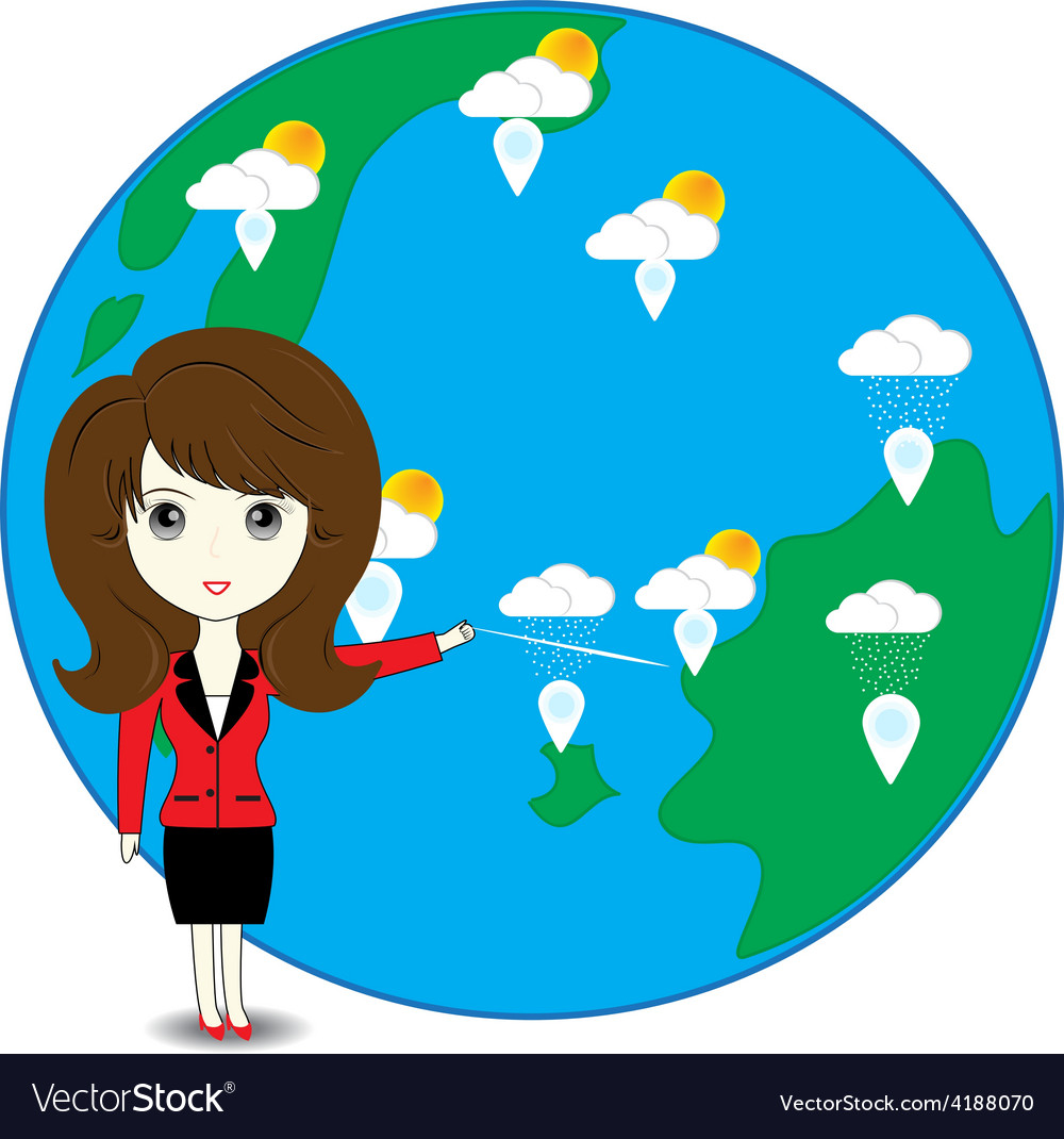Business woman describe about global warming vector | Price: 1 Credit (USD $1)