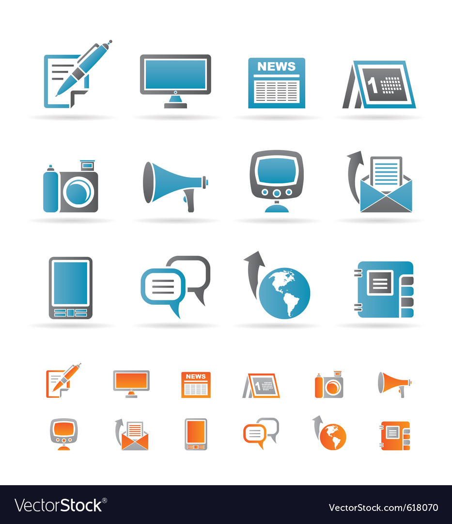 Communication channels and social media icons vector | Price: 1 Credit (USD $1)