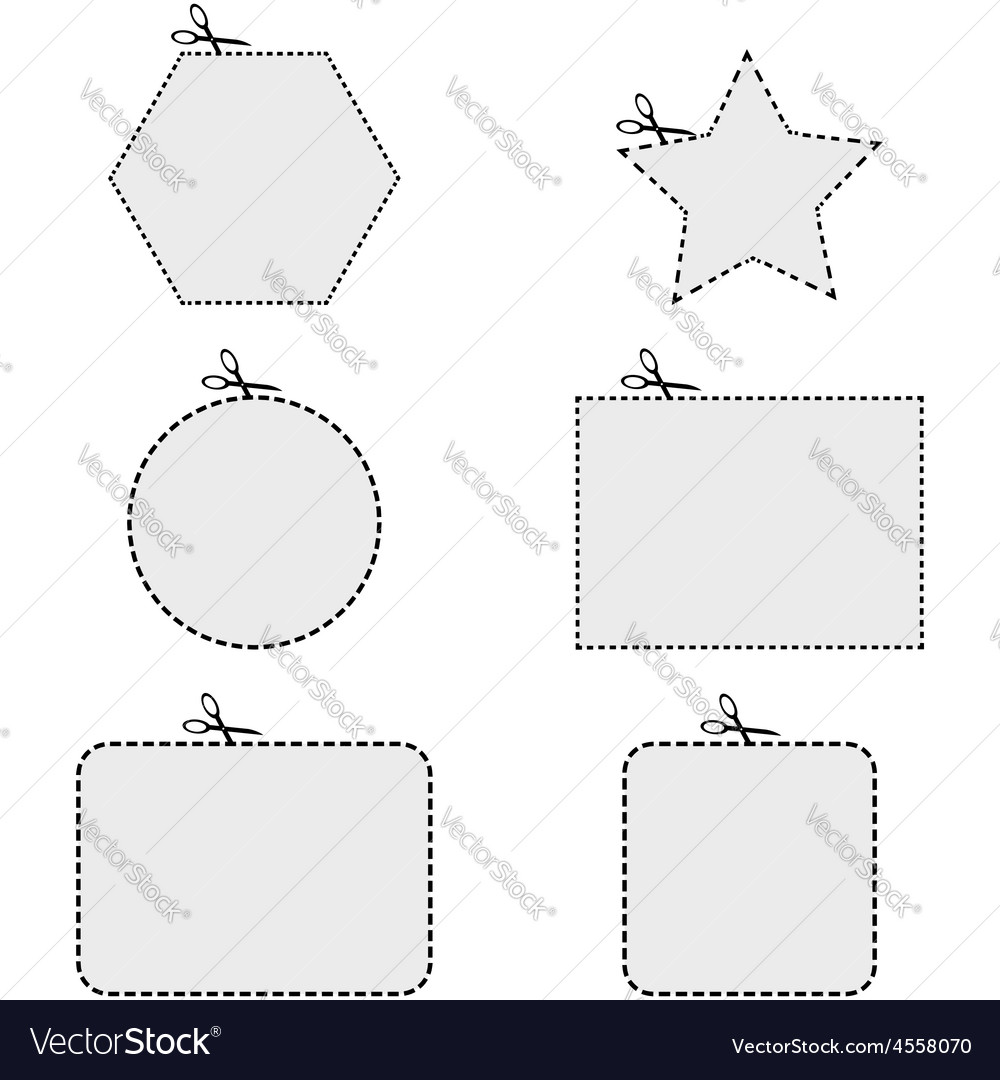 Coupon shapes vector | Price: 1 Credit (USD $1)