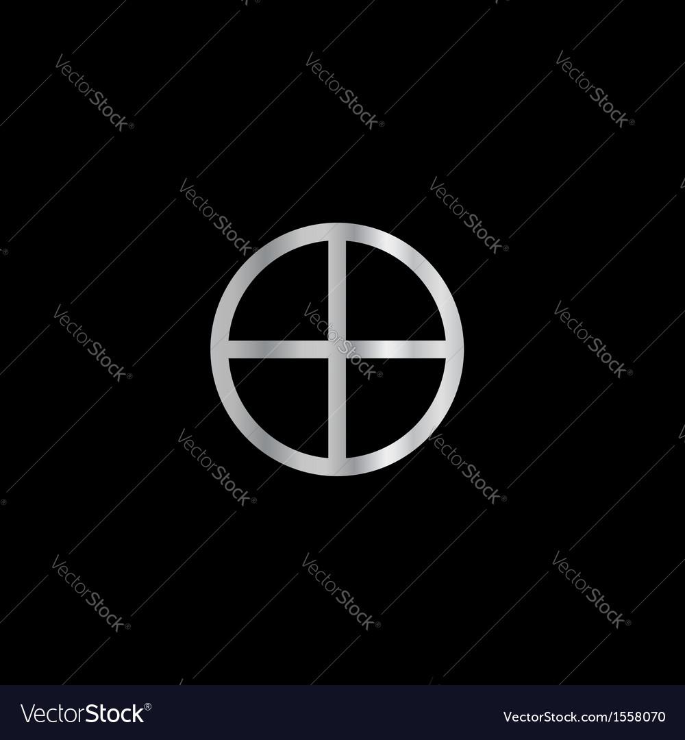 Gnosticism sun cross vector | Price: 1 Credit (USD $1)