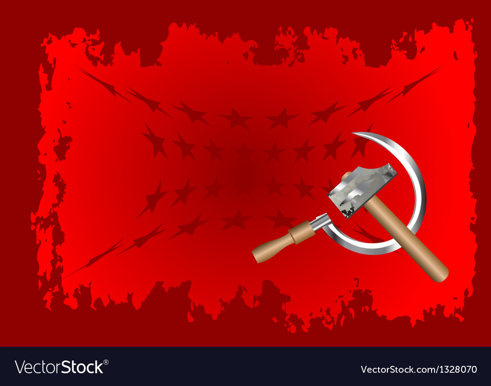 Hammer and sickle vector | Price: 1 Credit (USD $1)