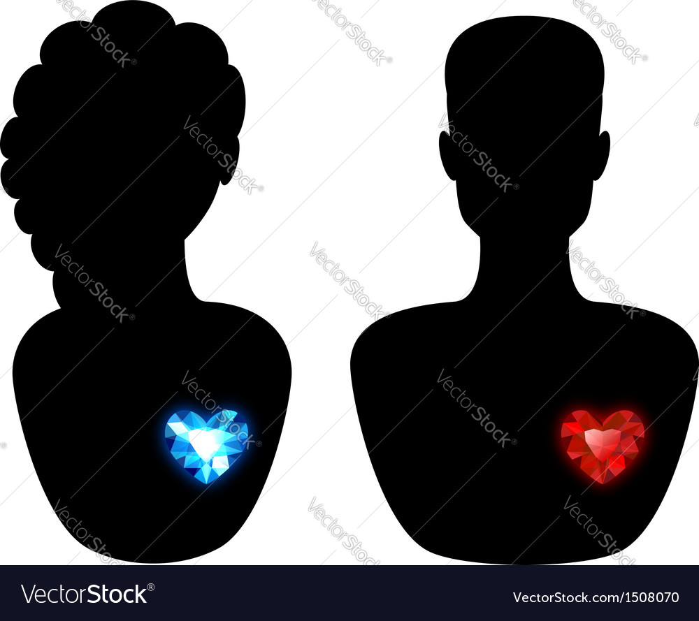 Man and woman silhouette vector | Price: 1 Credit (USD $1)