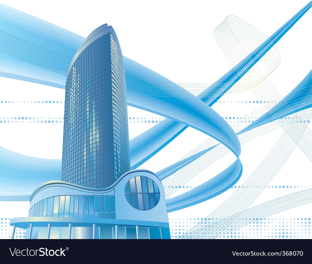 Modern city building vector | Price: 1 Credit (USD $1)