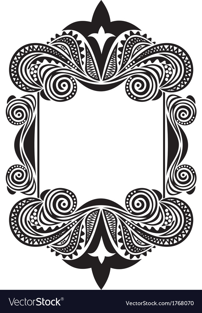Pattern frame vector | Price: 1 Credit (USD $1)
