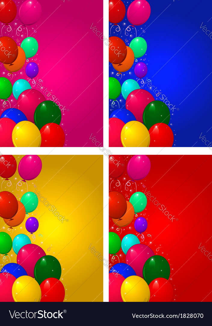 Set backgrounds for birthday vector | Price: 1 Credit (USD $1)