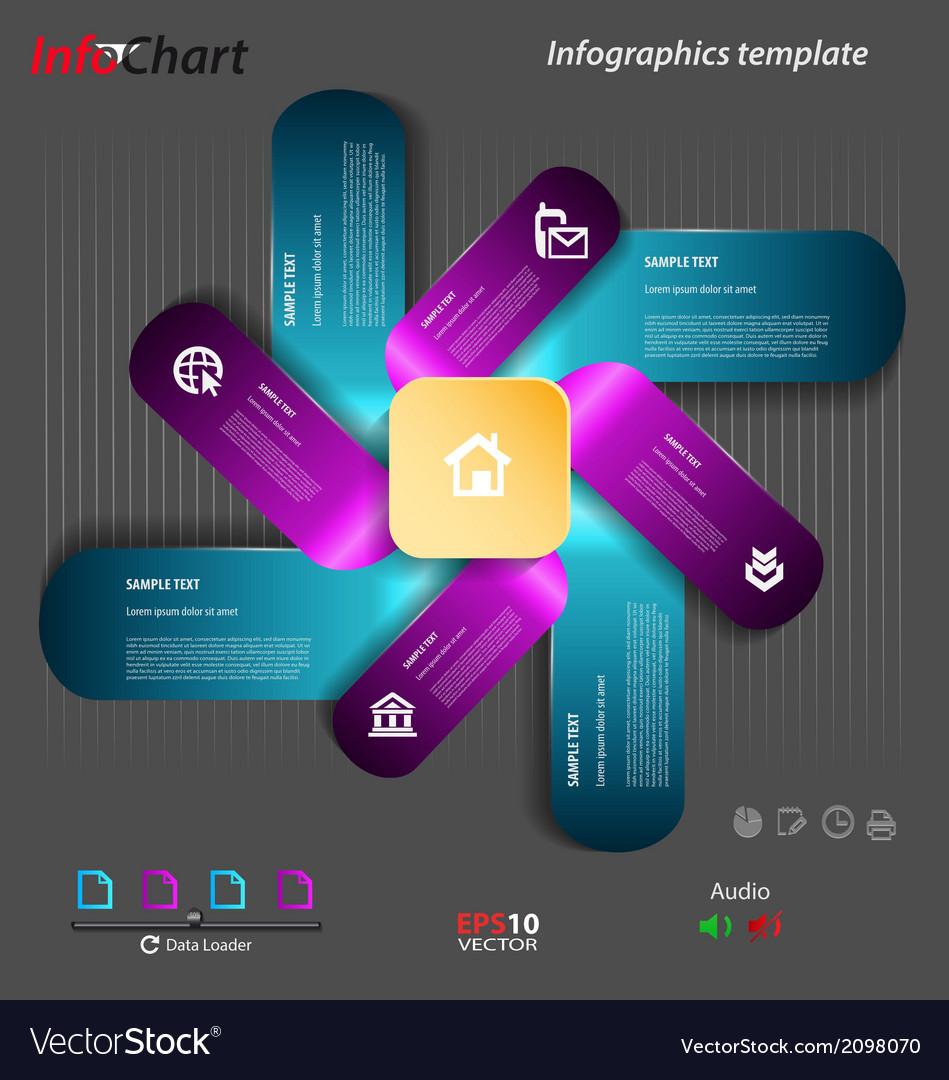 Stylized presentationoption template vector | Price: 1 Credit (USD $1)