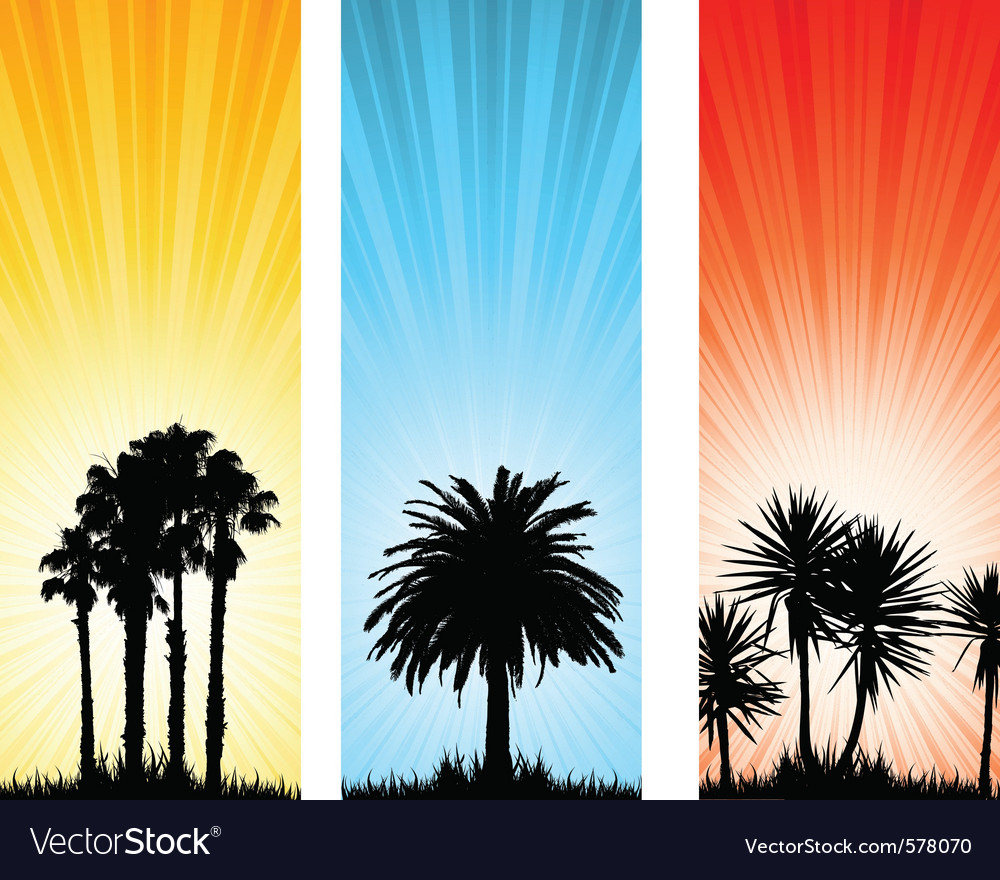 Tree banners vector | Price: 1 Credit (USD $1)