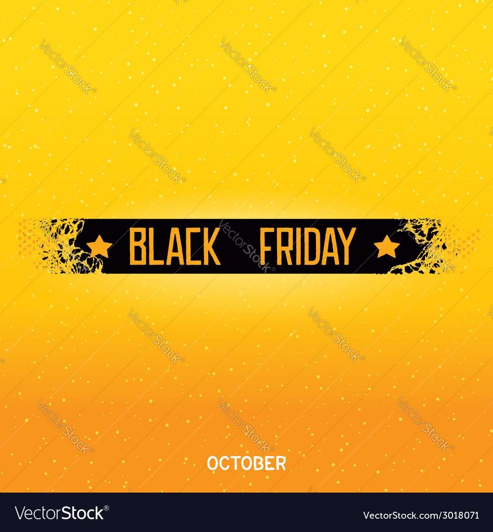 Black friday lettering on damage ribbon vector | Price: 1 Credit (USD $1)